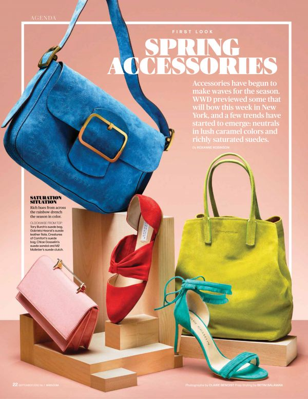 Claire Benoist in WWD Spring Accessories Preview