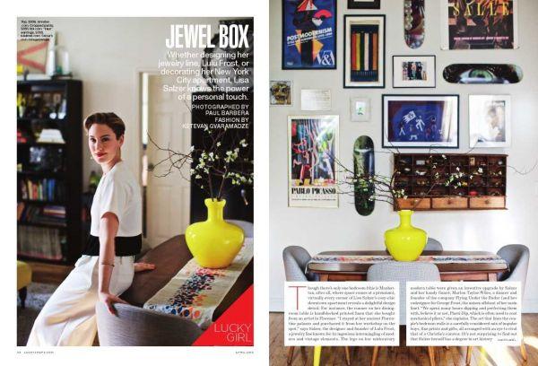 Paul BARBERA- Lisa Salzer For  LUCKY Magazine